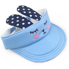 custom children kids baby spring cotton rabbit bonnet sun visor party hat