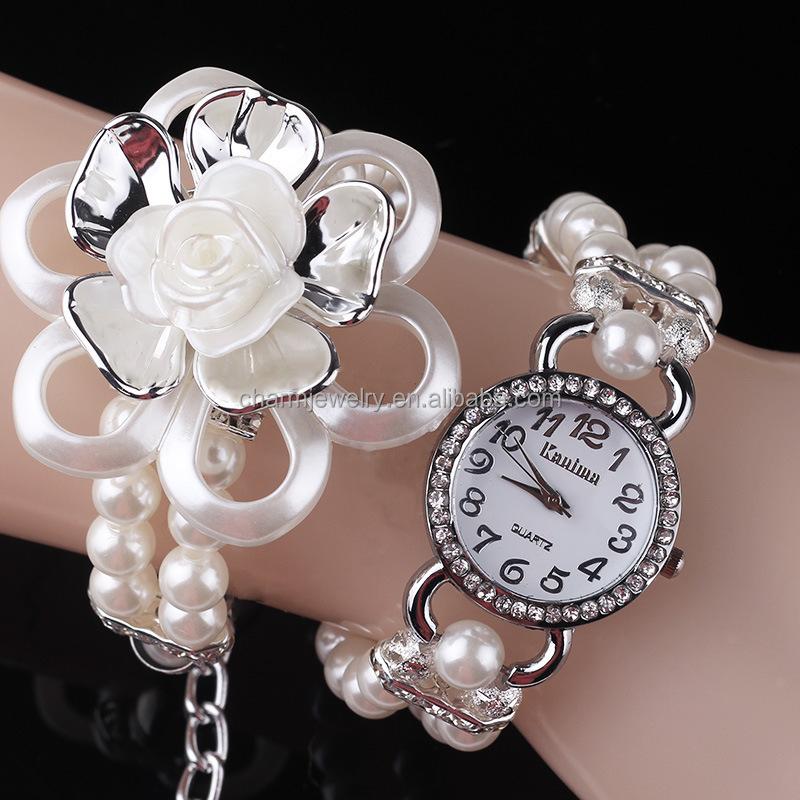 Pearl Bracelet Watches Lotus Pearl Diamond Bracelet