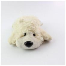 White plush soft dog with music singing, led light-up flashing small dog plush