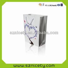 LED flashing paper bag for present