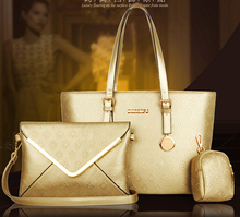 2015 New designed fashionable women bag three in one set wholesale ladies handbags online shopping totes