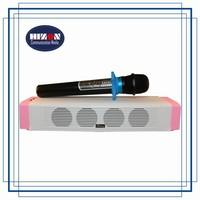 Mini Karaoke soundbar with handheld wireless microphone