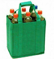shopping bags pp laminated 6 wine bottle tote bag