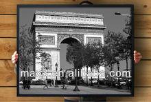 POS-031 Paris Arc de Triomphe Black White Paintings for Home Decoration