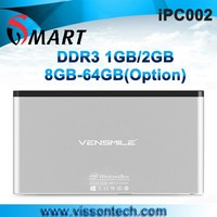 New Vensmile ipc002 mini computer x86 Wintel atom Z3735F dual band wifi HD player 3000mAh battery in side mini computer
