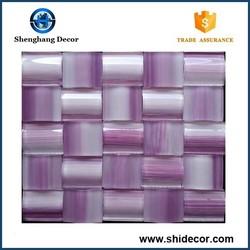 Crystal glass mosaic tile purple mix pin glass mosaic