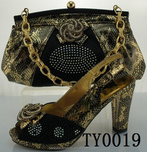 High quality ladies matching shoes and bags set/african sexy high heel shoes beautiful design, 12 cm high heel shoes
