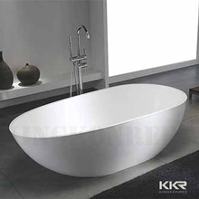 de tamaño personalizado bathtubsround independiente de acrílico superficie sólida bañera