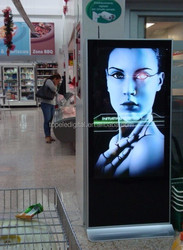 55 inch vertical lcd display, advertising material, digital totem advertising lcd display