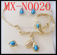 2014hot sale italian gold plated High-end delicate jewelry sets alloy fashion jewelry sets