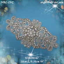 pearl beaded applique patch WDD0167