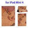 Wholesale China Price Map Pattern leather wallet case for ipad mini 4 cover
