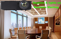 full hd hologram dlp projector high brightness DLP 3d Projector for holographic film windows glasses video advertising