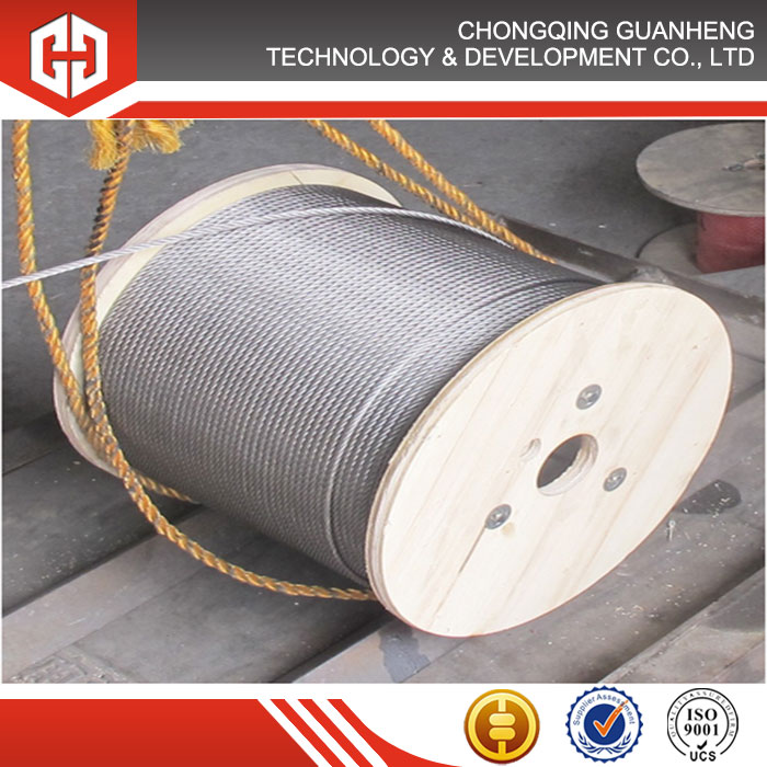 Aisi 304 316 7x19 Stainless Steel Wire Rope With Dia 8mm Length ...