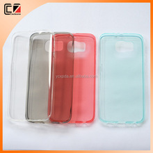 Ultra thin transparent soft phone cover for Samsung S6