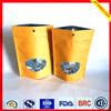 stand up kraft brown paper bag with window