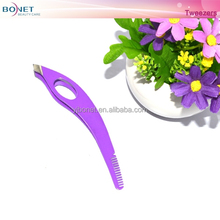 BTZ0369 Beauty Print Spary Eyebrow Tweezers With Tomb
