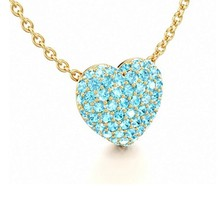 Hear Design Color AAA Cubic Zircon Necklace,18K Gold Necklace