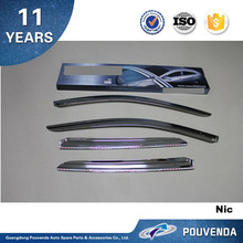 ABS Chrome Sun visor Window Visor For Hyundai Santa fe IX45 Rain Theild Auto accessories from Pouvenda