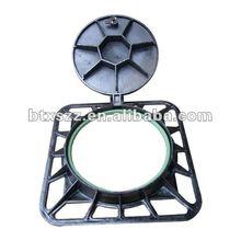 OEM cast iron sewer cover EN124, black bituminous paint