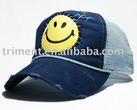5 panel custom cotton and mesh trucker snapback hat