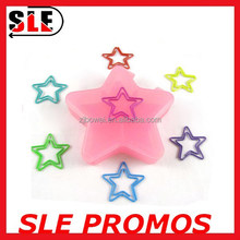 2015 promotion gift star shaped metal paper clips
