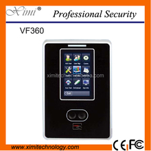 Hight speed Face recognition door access control system 3 inch touch screen TCP/IP face time and attendance system free software