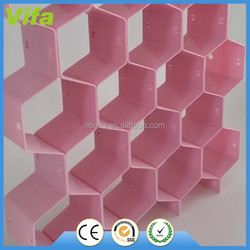 Household Plastic Partition Bee Style Underwear Socks Ties Belts Scarves Drawer Divider organizer Cabinet Clapboard