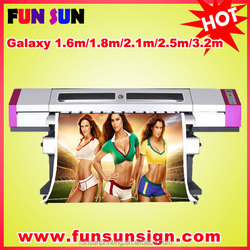 Galaxy 1.6m/1.8m/2.1m/2.5m /3.2m cheap Eco solvent printer ( DX5 head ,1440dpi,Promotion price now )