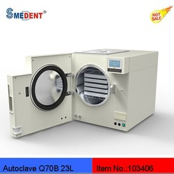 Hot sale class B portable dental autoclave sterilizer air cooling line 23L