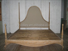Cheap hotel beds hotel fabric bed hand made french oak wood bed