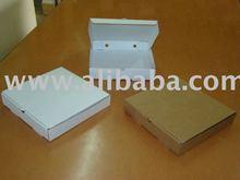 """Pizza box 10"""" white white 26x26x4.5cm"""