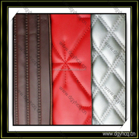 high quality sewing pattern leather laminated sponge for sofa car seat cover