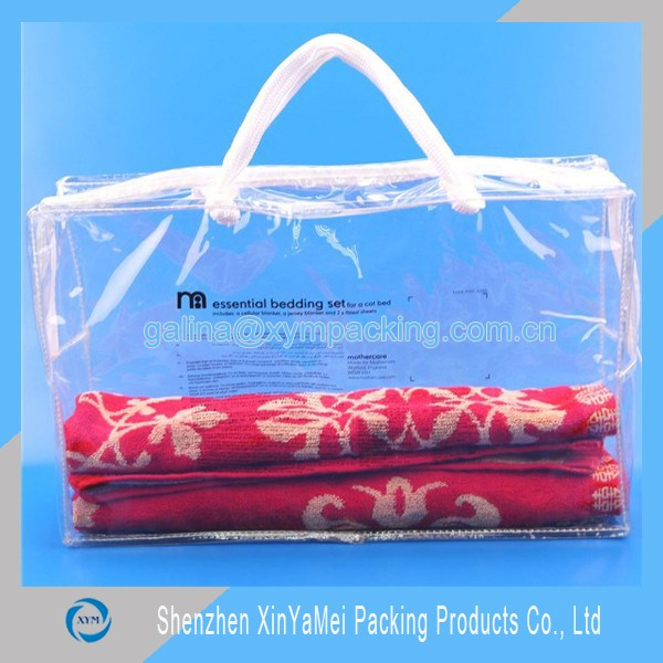 clear vinyl pvc zipper blanket bags