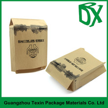 2015 Trade assurance brown paper coffee bag with degassing valve,stand up kraft paper bag with zipper , bottom gusset coffee