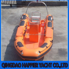 Made in China 5.2/7.3m inflatable fast rescue boat for sale