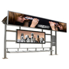 Simple construction multifunctional LED used clothing solar power scrolling pictures bus shelter