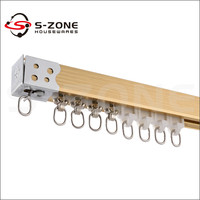 ceiling mount and wall mount curtain track for hotel