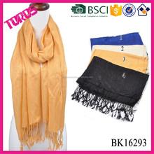 2016 Fashion viscose long plain colour scarf