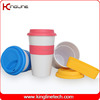 500ml coffee cup with silicone lid (KL-CP004)