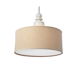 China supplier energy saving fabric pendant lamp for hotel projec home decoration