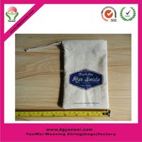 2015 hot sell gifts stylish custom small canvas cotton velvet drawstring bag