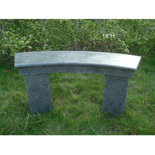 Outdoor cast fiberstone concrete garden bench