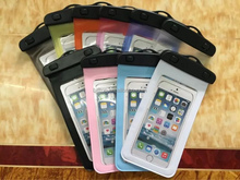 Transparent waterproof phone bag for phone size less than 6 inches
