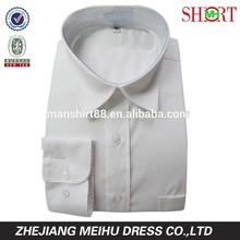 OEM 2015 no iron cotton pure white men formal dress shirt