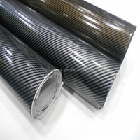 High quality real texture 1.52*30m/roll 2D carbon fiber vinyl with air free bubbbles