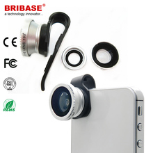 Pipe shape Clip 3 in 1 Mobile Phone Camera Lense Attachable for Iphone