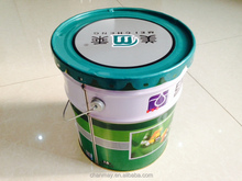 20L round Tin can with steel handle for Latex paint, coating or other chemical products