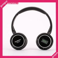 High quality low price wireless Headphone with Screen Promotion Earphone with FM memory card