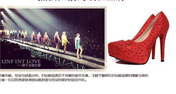 новые красные туфли на высоких каблуках водонепроницаемый Тайвань штраф алмаз Свадебная обувь невесты с Свадебные туфли